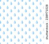 seamless pattern with blue rain ... | Shutterstock .eps vector #238971028