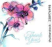 vector illustration  card thank ...   Shutterstock .eps vector #238976998