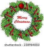 christmas wreath with balls.... | Shutterstock .eps vector #238984003
