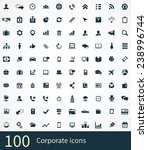 corporate icons vector set | Shutterstock .eps vector #238996744
