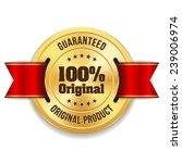 gold original product badge... | Shutterstock .eps vector #239006974