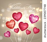 happy valentine's day card with ... | Shutterstock .eps vector #239007748