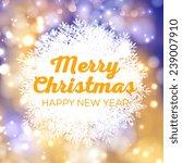 merry christmas invitation or... | Shutterstock .eps vector #239007910