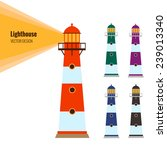 lighthouse vector | Shutterstock .eps vector #239013340