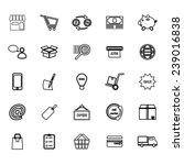 internet entrepreneur line... | Shutterstock .eps vector #239016838