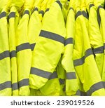 bright yellow high visibility... | Shutterstock . vector #239019526