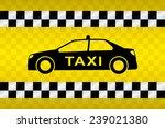 taxi car  | Shutterstock .eps vector #239021380
