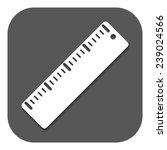 the ruler icon. ruler symbol.... | Shutterstock .eps vector #239024566