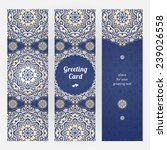 vintage ornate cards in eastern ... | Shutterstock .eps vector #239026558