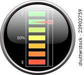 fuel level device full  vector  | Shutterstock .eps vector #23902759