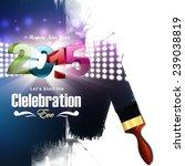 happy new year 2015 celebration ... | Shutterstock . vector #239038819