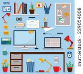 home office icons set....   Shutterstock .eps vector #239054008