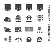 ftp   hosting icons  | Shutterstock .eps vector #239058880