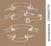 hand drawn vector set   vintage ... | Shutterstock .eps vector #239060770