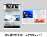 cover and magazine layout.... | Shutterstock .eps vector #239062249