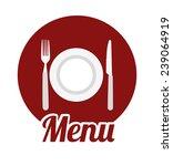 kitchen design over white... | Shutterstock .eps vector #239064919
