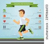 running and jogging...   Shutterstock .eps vector #239066653