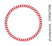 round frame made of candy canes ... | Shutterstock .eps vector #239067208