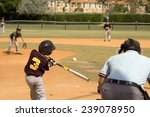kids playing baseball in youth... | Shutterstock . vector #239078950