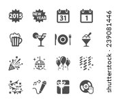 new year party icon set 4 ... | Shutterstock .eps vector #239081446