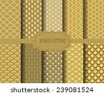 10 different gold wave patterns ... | Shutterstock .eps vector #239081524
