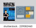 layout magazine  vector  | Shutterstock .eps vector #239082460