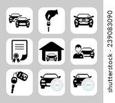 car dealership icons | Shutterstock .eps vector #239083090