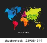 world map with different... | Shutterstock .eps vector #239084344
