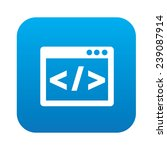 coding on blue flat button... | Shutterstock .eps vector #239087914