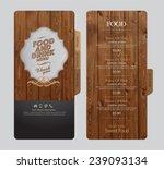 restaurant menu design. | Shutterstock .eps vector #239093134