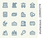 travel web icons set | Shutterstock .eps vector #239093779