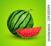 watermelon healthy fruit... | Shutterstock .eps vector #239100394