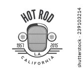 hot rod emblem. retro style | Shutterstock .eps vector #239103214
