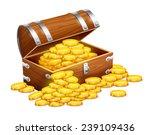 pirates trunk chest full of... | Shutterstock .eps vector #239109436