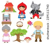 red riding hood vector... | Shutterstock .eps vector #239111740