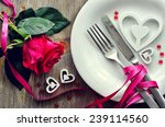 romantic dinner with rose ... | Shutterstock . vector #239114560