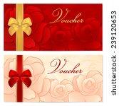voucher  gift certificate ... | Shutterstock . vector #239120653