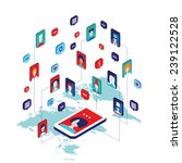 social network and technology... | Shutterstock .eps vector #239122528
