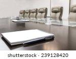 closeup of notepad kept on... | Shutterstock . vector #239128420