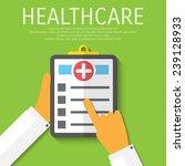 vector clipboard medical flat...   Shutterstock .eps vector #239128933