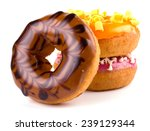 colorful delicious donuts... | Shutterstock . vector #239129344