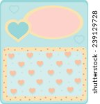 card with hearts | Shutterstock .eps vector #239129728