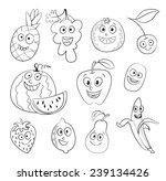 i love fruit. funny cartoon... | Shutterstock .eps vector #239134426