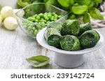 Bowl Of Frozen Spinach