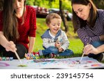 happy mother aunt sister and... | Shutterstock . vector #239145754