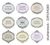 vintage frame and label set. | Shutterstock .eps vector #239154283