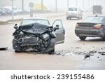 automobile crash accident on... | Shutterstock . vector #239155486
