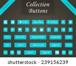 vector set of modern buttons... | Shutterstock .eps vector #239156239