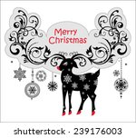 christmas background decorative ... | Shutterstock .eps vector #239176003