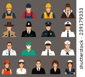 vector icon workers  profession ... | Shutterstock .eps vector #239179333